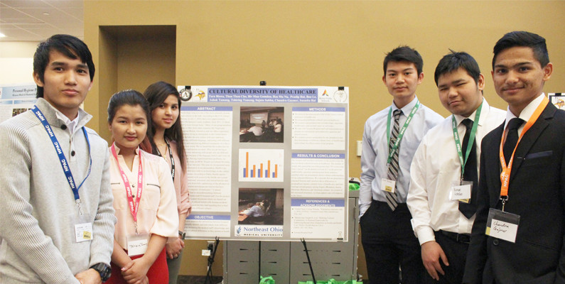 North High School students present Cultural Diversity of Healthcare poster