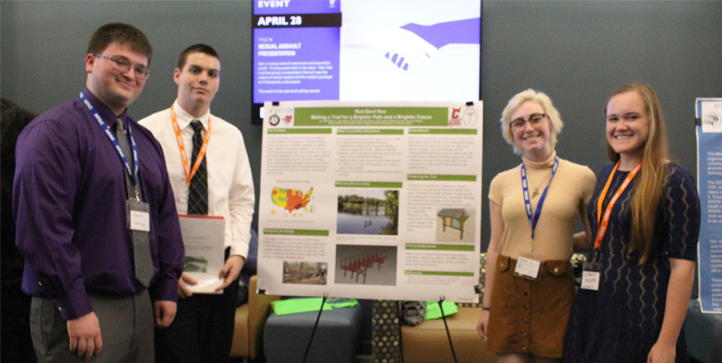 Crestwood High School students present Run Devil Run poster